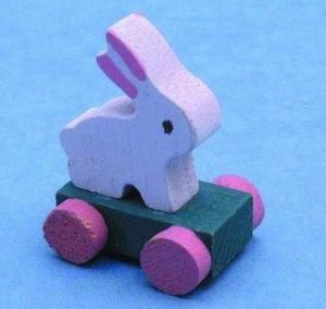 Dragleksak kanin i trä leksak
