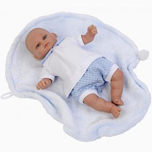 Docka Baby Mark m kläder & babyfilt