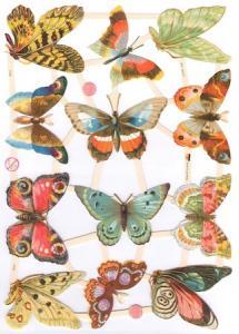 Bokmärken fjärilar retro