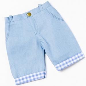 Dockkläder jeans rutig 35-45 cm
