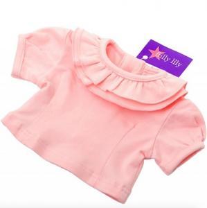 Dockkläder tröja volang 35-45 cm rosa