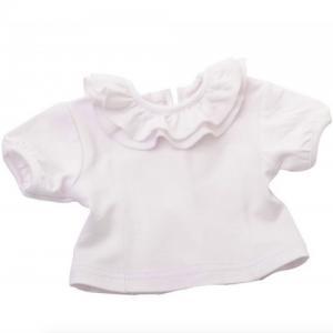 Dockkläder tröja volang 35-45 cm vit