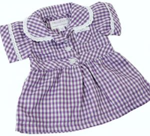 Dockkläder klänning marinblå vit 40 cm
