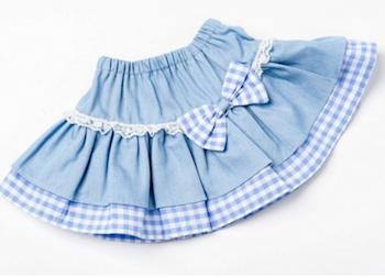 Dockkläder kjol denim 40 cm
