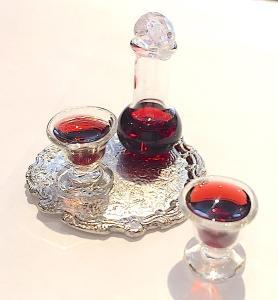 1 Karaff o vinglas m vin