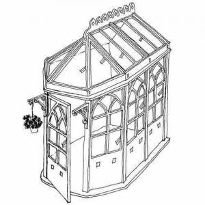 Konservatorium Gotic växthus byggsats