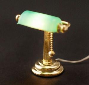 Bordslampa grön skärm EL