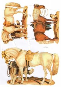 Bokmärken tre hästar hund
