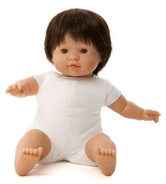Docka småbarn Niki brunt hår, utan kläder