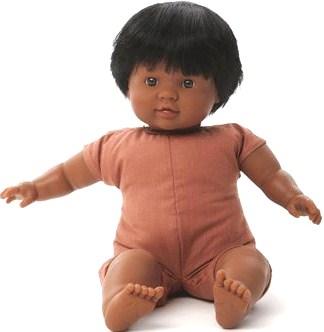 Docka småbarn Josh svart hår, utan kläder