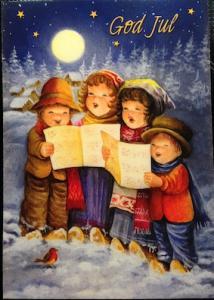 Kort julkort m barn barnkör