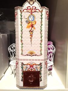 Kakelugn royal, byggsats stansad kartong