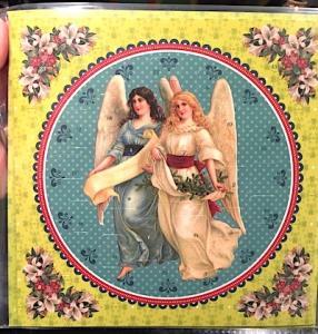 Adventskalender kort Änglar retro