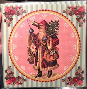 Adventskalender kort Jultomte retro