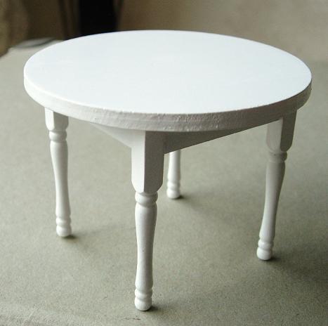 Omtyckta Köksbord bord runt vitt matbord MC-91
