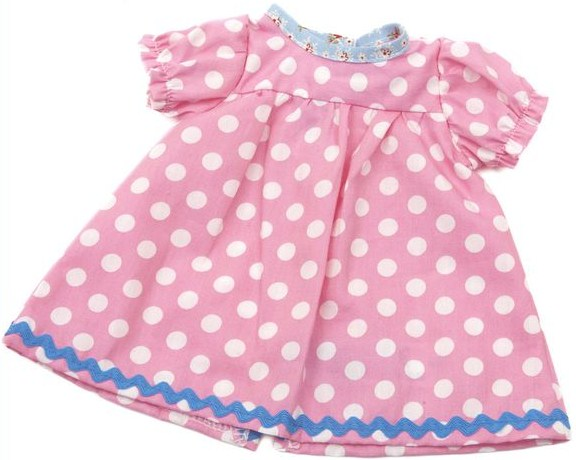 Dockkläder Klänning dockklänning rosa vita prickar dockor 40 cm 42320cd717fef