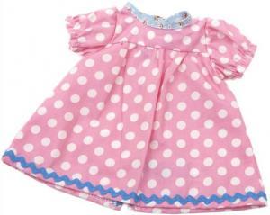 Dockkläder Klänning dockklänning rosa vita prickar dockor 40 cm