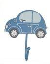 Krok blå bil