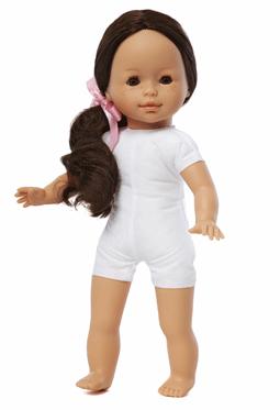 Docka lillasyster Åse, brunt hår, mjuk kropp