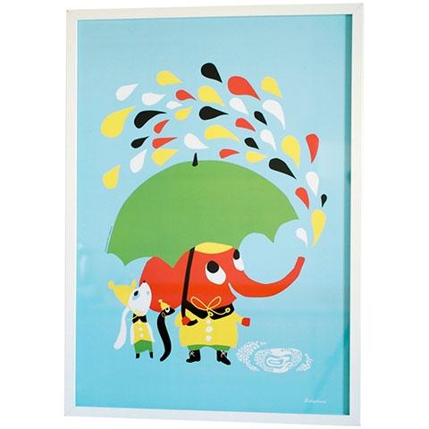 Rain elefant Littlephant print