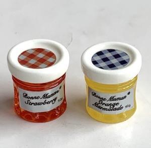 2 st syltburkar marmeladburkar