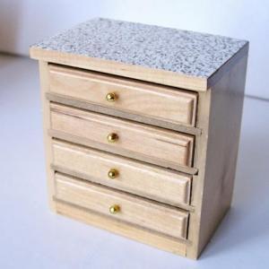 Kök modernt, Köksbänk med lådor marmor