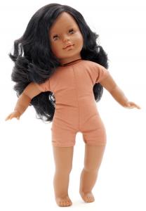 Docka Maya lillasyster svart hår, mjuk kropp
