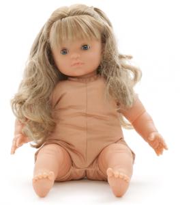 Docka MIO med ljust hår blunddocka flickdocka 42 cm