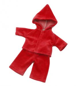 Dockkläder Mysdress röd dockor ca 30 cm