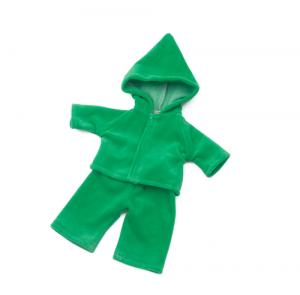 Dockkläder mysdress grön docka 30 cm