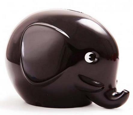 Elefant Norsu sparbössa svart stor