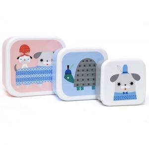 Peanut & Co, 3 lunch box set, Petit monkey