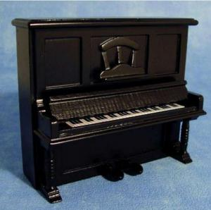 Piano i svart