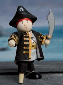 Budkin pirat kapten med träben