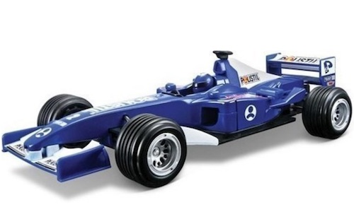Formula bil Polistil pull back blå