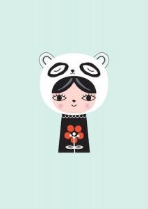Kort Miss Panda Petit monkey