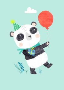 Kort Panda bear Petit monkey