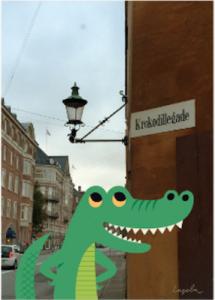 Krokodilgatan print 30X40