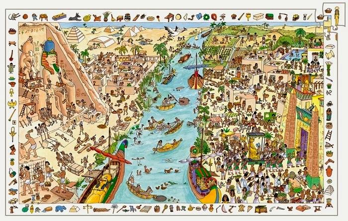 Pussel Egypten pussel 200 bitar
