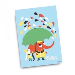 Kort Rain vykort design Camilla Lundsten