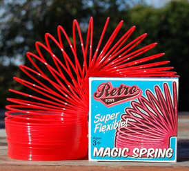Klassisk SPIRAL RÖD Retro Toys Spring