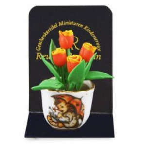 Blomma i porslinskruka Hummel / Reutter porslin