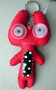 Monster Alien rött nyckelring