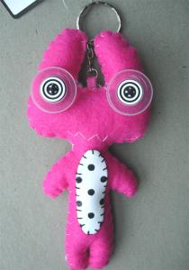Monster Alien rosa nyckelring