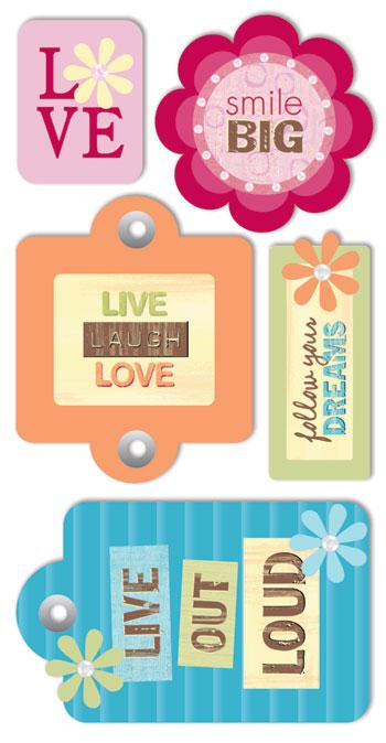 Funtastik glada tags 3d dekorationer