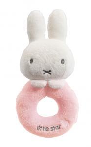 Miffy skallra Little Star Loop rattle rosa