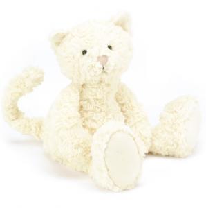 Katt vit Skiffles cat