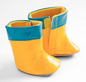 Dockskor stövlar gula till dockor ca 40 cm