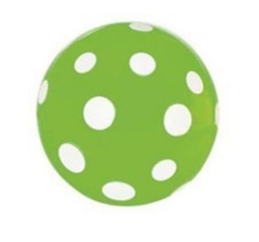 Studsboll grön vita prickar