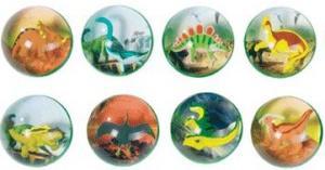 Studsboll med dinosaurie i